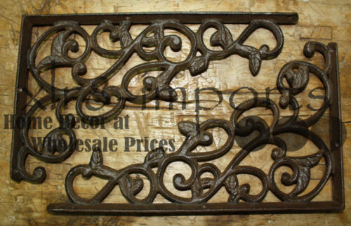 4 Cast Iron Antique Style LEAVES & VINE Brackets, Garden Braces Shelf Bracket