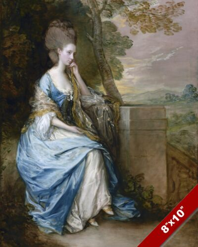 ANNE COUNTESS OF CHESTERFIELD PORTRAIT PAINTING ENGLISH ART REAL CANVAS PRINT