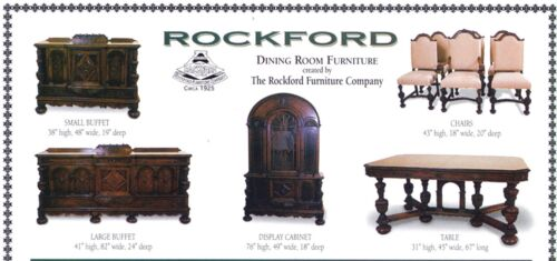 *** Rockford Dining Room Furniture Set ***  circa 1925
