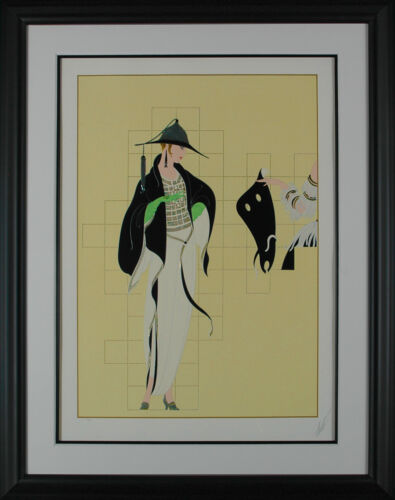 Erté - Haute Couture, hand-signed serigraph, Framed