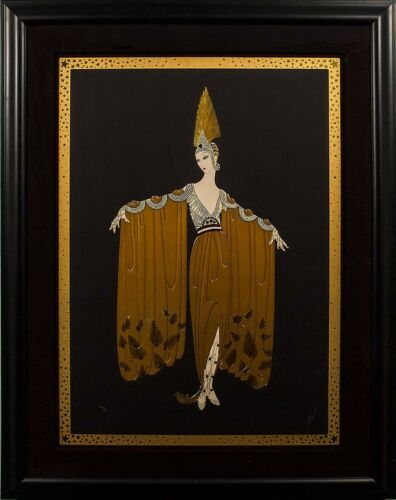Erté - Gown Orientale, hand-signed serigraph, Framed