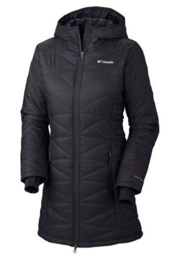 NEW Women Columbia Mighty Lite Hooded repellent long Jacket, XS, S, M, L, XL