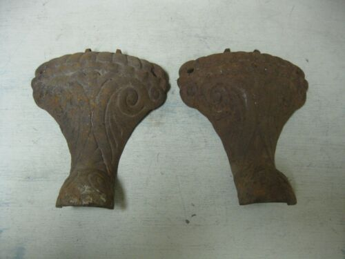 VINTAGE WOOD STOVE ORNATE PAIR OF LEG PARTS STEAMPUNK HARDWARE CRAFT #3
