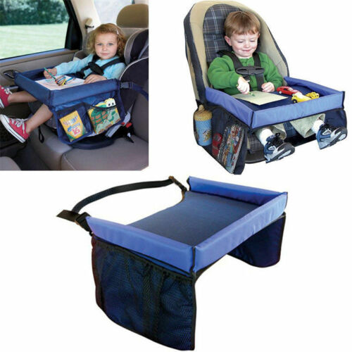 Portable Safety Kids Car Seat Travel Tray Activity Drawing Board & Waterproof