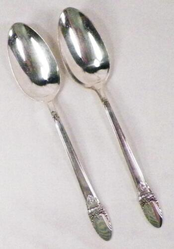 2 First Love Silverplate Tablespoons 1847 Rogers Bros Serving Vintage Tablespoon