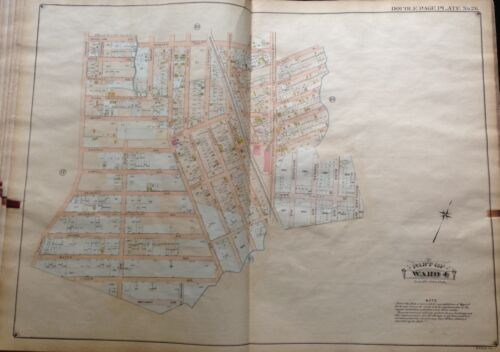 1907 BELCHER HYDE SPRINGFIELD GARDENS SOUTH SIDE RAILROAD QUEENS NY ATLAS MAP