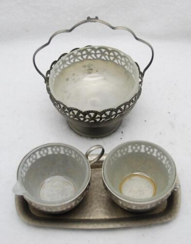 LOT OF 3 CELTIC SILVERPLATED CONDIMENT SERVER WARE MADE IN ENGLAND