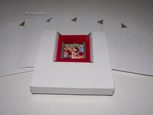 5 x Gameboy Nintendo Game Tray Insert White Replacement Reproduction Inserts
