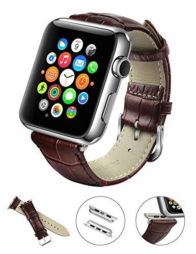 New Genuine Leather Apple iWatch Band Strap Classic Buckle 38mm 42mm Black Brown