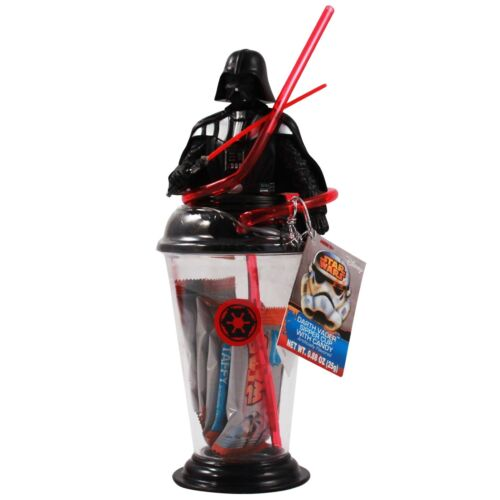 Darth Vader Star Wars Sipper Cup With Crazy Straw Plus Taffy Candy-Brand New!