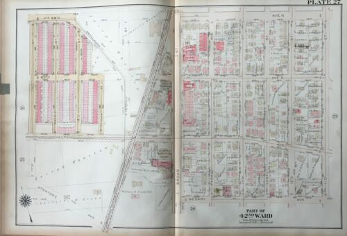 1923 G.W. BROMLEY, EAST OAK LANE PHILADELPHIA PA, ST. MARK'S CHURCH, ATLAS MAP