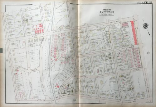 1923 G.W. BROMLEY, OVERBROOK PHILADELPHIA PA, OAK LANE REFORM CHURCH, ATLAS MAP