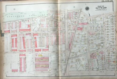 1923 GW BROMLEY OAK LANE PHILADELPHIA PA ELLWOOD SCHOOL 11-18TH STREET ATLAS MAP