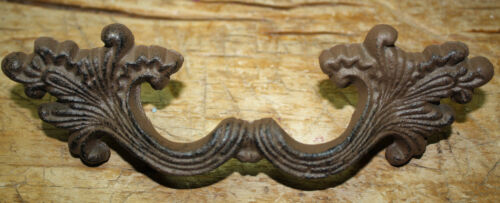 12 Cast Iron Antique Victorian Style Drawer Pull, Barn Handle, Door Handles