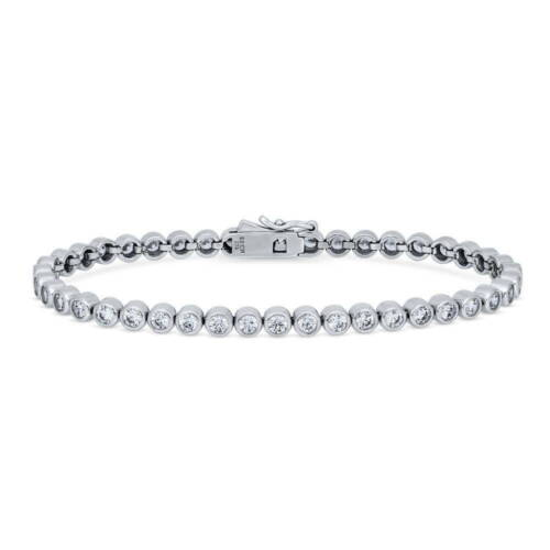 BERRICLE Sterling Silver Bubble Tennis Bracelet Made with Swarovski Zirconia