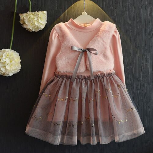 Toddler Kids Baby Girls Princess Dress Party Pageant Formal Tulle Tutu Dresses