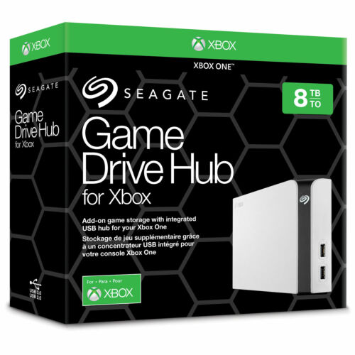 "Seagate 8TB Desktop HDD 3.5"" Game Drive Hub For XBOX One External Hard Drive"
