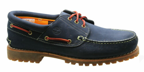 Timberland Authentic 3Eye Classic Lug Mens Boat Shoes Navy Blue Nubuck 9753B D16 <br/> RRP £130