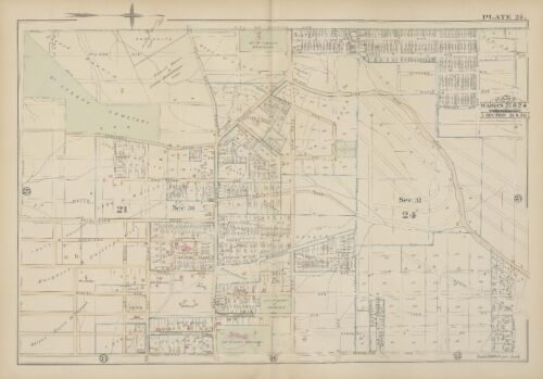 1884 CINCINNATI HAMILTON COUNTY OHIO MOUNT ST. VINCENT OAK AV-GRAND AV ATLAS MAP