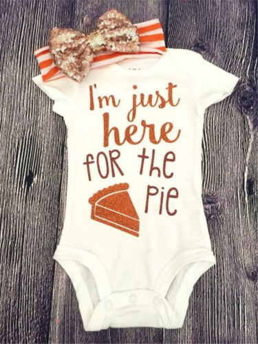 Newborn Infant Baby Girls Boys Romper Bodysuit Jumpsuit Headband Outfits Clothes
