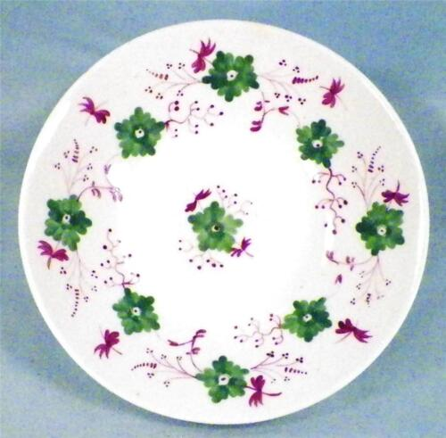 3 Antique Sprig Saucers Soft Plaste Deep Green Flowers Purple Berries & Branches