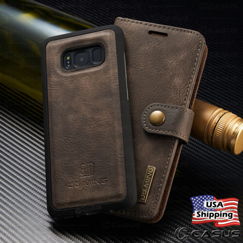 For Galaxy S20/S10/S9Note 20/10/9/8 Leather Removable Wallet Magnet Case Cover