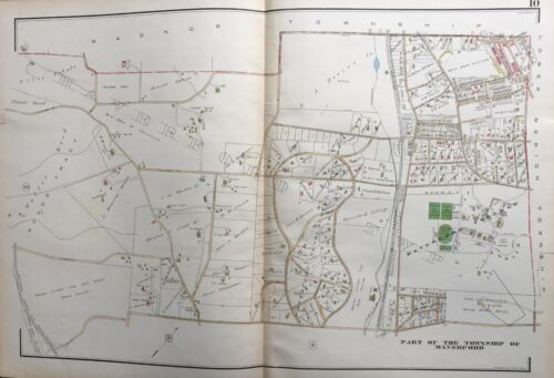 1929 DELAWARE CO PA MARION CRICKET & WEST GOLF CLUB HAVERFORD COLLEGE ATLAS MAP