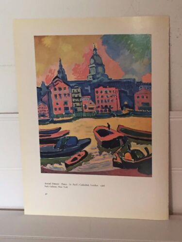 Maurice De Vlaminck Andre Derain Print St. Pauls Cathedral The White House 20638
