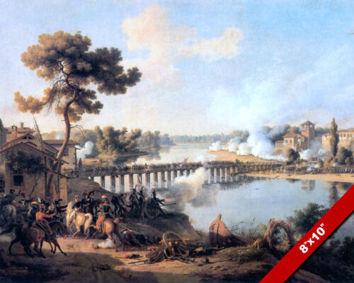 GENERAL NAPOLEON BATTLE OF LODI FINE ART PAINTING REAL CANVAS GICLEE 8X10PRINT
