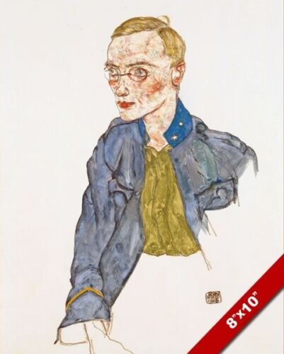 ONE YEAR VOLUNTEER LANCE CORPORAL PORTRAIT EGON SCHIELE PAINTING CANVAS PRINT