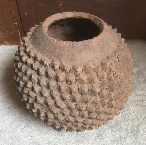 African Lobi Vessel or Pot Terra Cotta Clay Amazing 9.5 inches tall