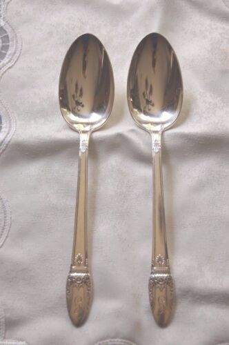 1847 Rogers Bros/International Silverplate FIRST LOVE 2 Serving Tablespoons/1937