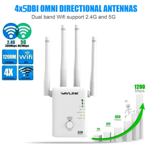 Smart Router High Power AC1200 Dual Band Wireless Router/AP/Repeater 2.4G&5G WPS