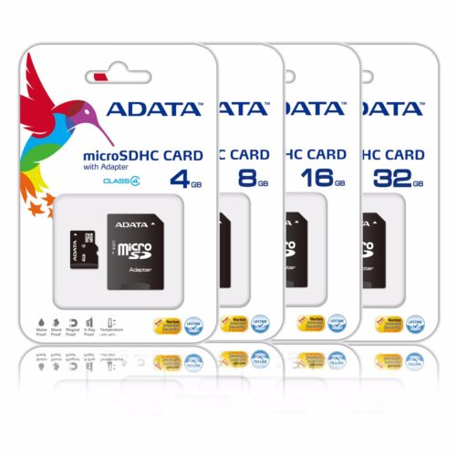 ADATA 32GB 16GB 8GB 4GB Micro SD HC Class 4 Memory Card Galaxy Tab 3 S4 S5 Lot