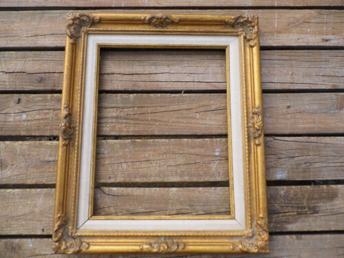 "Vintage Gold Wood Picture Frame 16"" x 19"" fits 11"" by 14"""