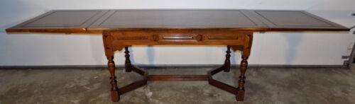 Kittinger refractory dining table solid Walnut William Mary Jacobean style 9 ft+