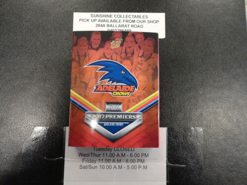 2017 AFLW ADELAIDE CROWS PREMIERSHIP CARD SET ONLY 500 MADE. limited.Australian Rules (AFL) Cards - 166107
