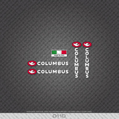 Decals 0242 Columbus Bicycle Frame and Fork Stickers
