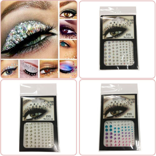 81 * ERhinestones Gems Diamonte Eyes Nail Art Eyeshadow Face Body Craft Sequins