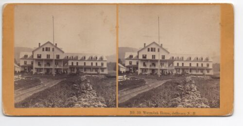 1880s Stereoview of the Waumbek House Jefferson NH