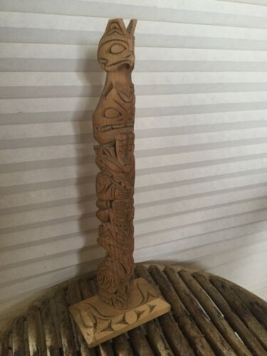 Rare Dave Williams Pacific NW Coast Salish Native Indian Totem Pole