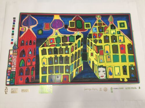 Friedensreich Hundertwasser Hurts To Wait With Love signed mixed media