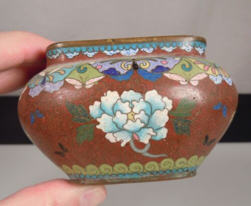 Chinese Cloisonne Bowl - Floral & Butterflies