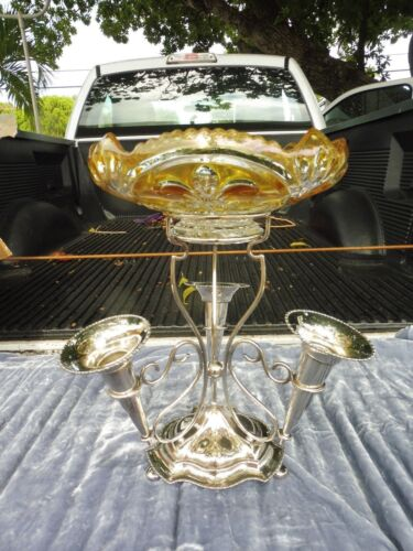VICTORIAN ENGLISH HAMILTON LAIDLAW & COMPANY SILVERPLATE EPERGNE
