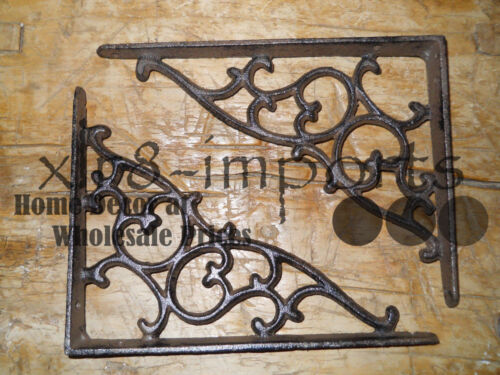 20 Cast Iron Antique Style SM Leave & Vine Brackets Garden Braces Shelf Bracket
