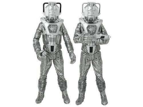 """Doctor Who """"Silver Nemesis"""" Cyberleader and Cyberman Figure Set of 2 NEW!"""