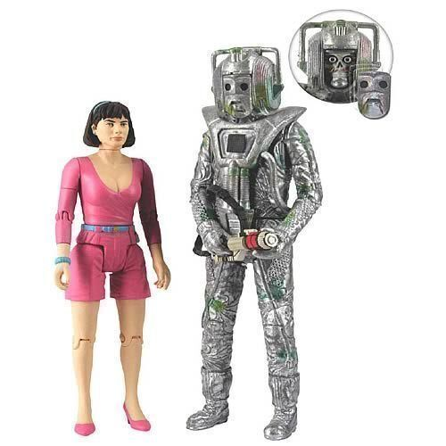 Doctor Who Peri and Rogue Cyberman Action Figures NEW!