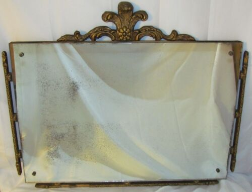 Antique Vtg Mirror Hanging Wall Art Deco Hollywood Regency Victorian Edwardian