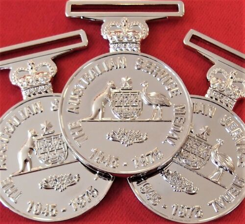10 x AUSTRALIAN ARMY NAVY AIR FORCE ACTIVE SERVICE MEDAL 1945-75 REPLICA ASMOther Eras, Wars - 135