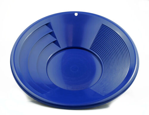 """12"""" Blue Plastic Gold Pan Mining Nugget Dredging Prospecting River Panning New"""